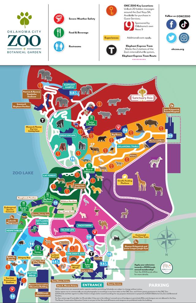 OKC Zoo Map