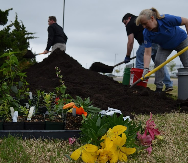 Boeing employees create pollinator garden with OKC Zoo Poo
