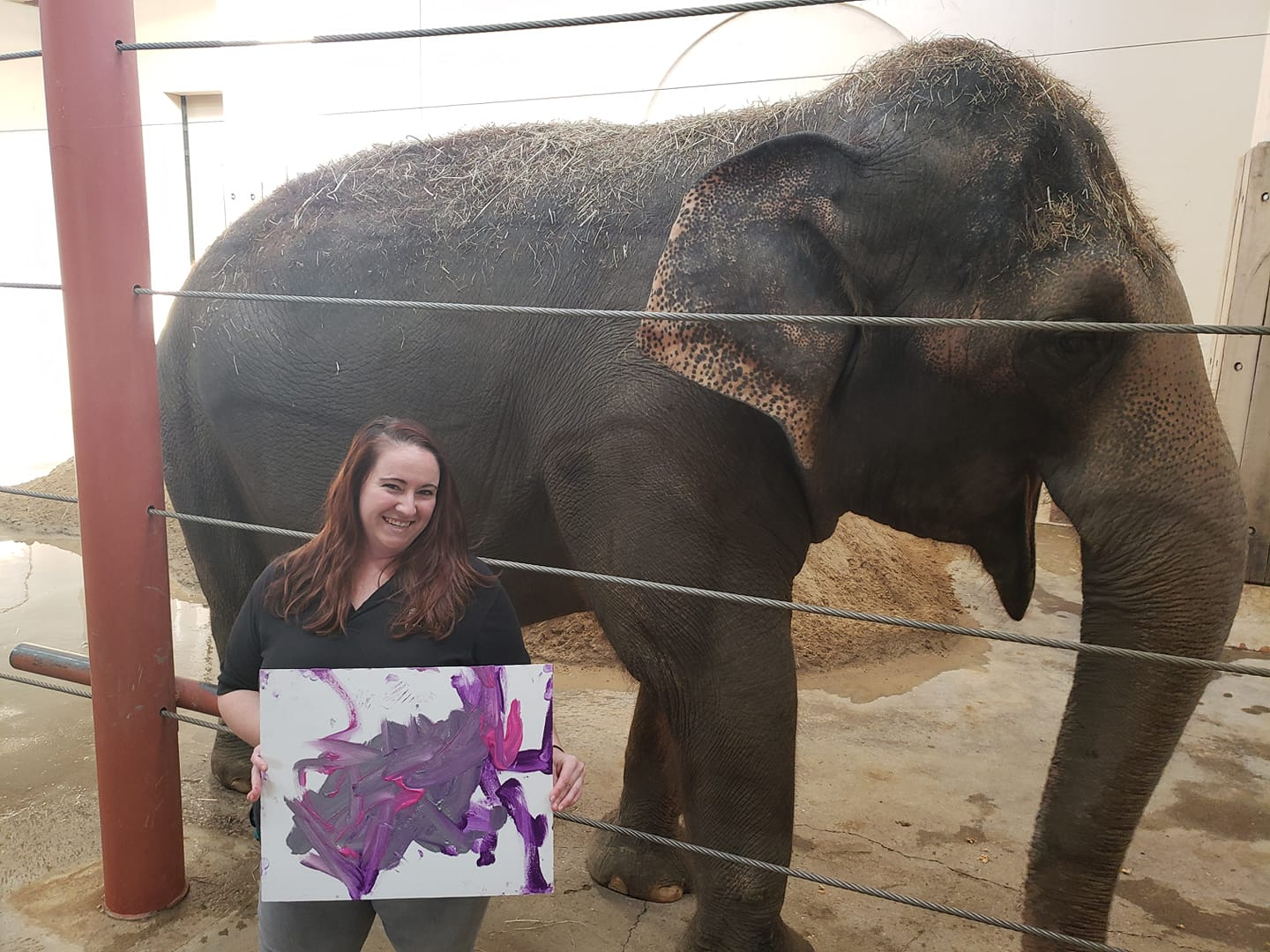 Kaitlin with Elephant Art