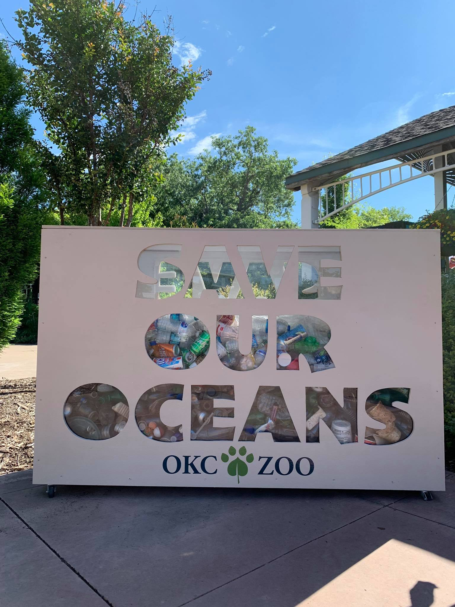 Save Our Oceans, Recycle Plastic Display
