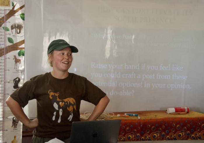 Sabrina Presenting Social Media Best Practices