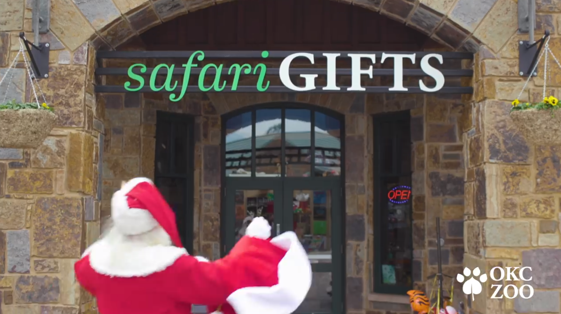 Santa at Safari Gift Shop