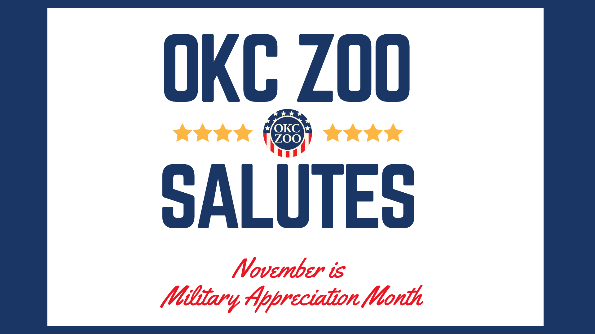 Zoo Salutes: Military Appreciation Month