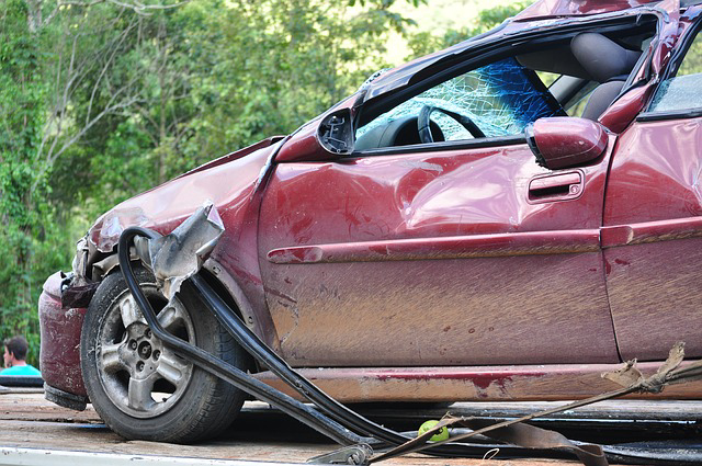 Car Damaged From Accident