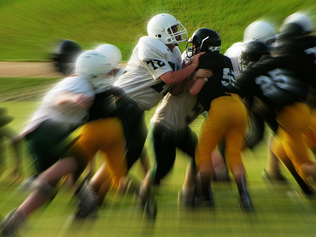 Football Player Tackle