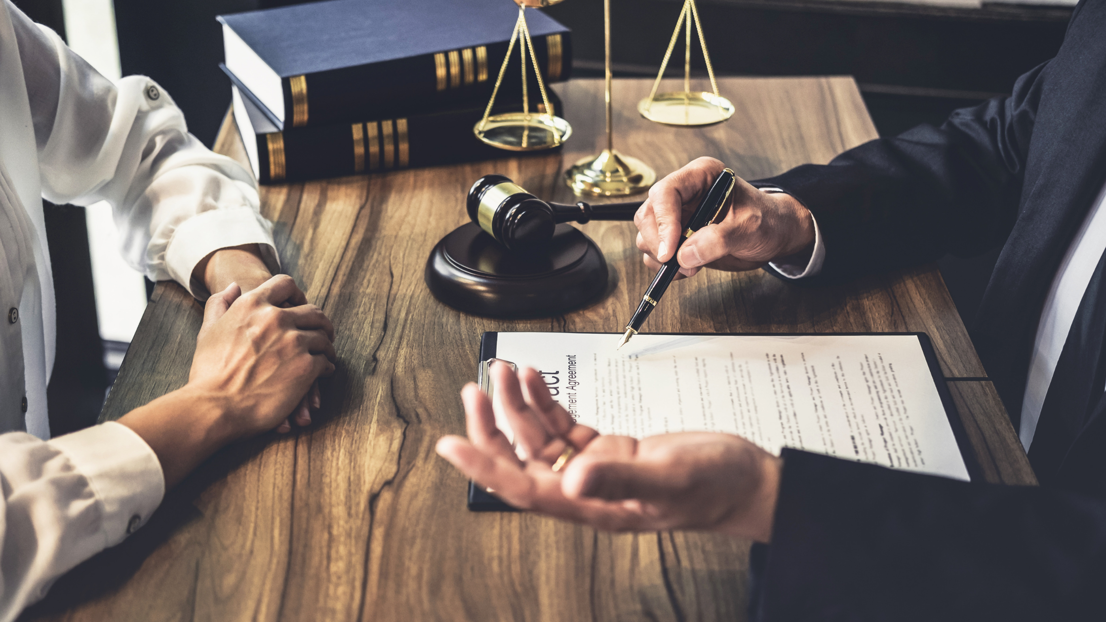 attorney with client contract