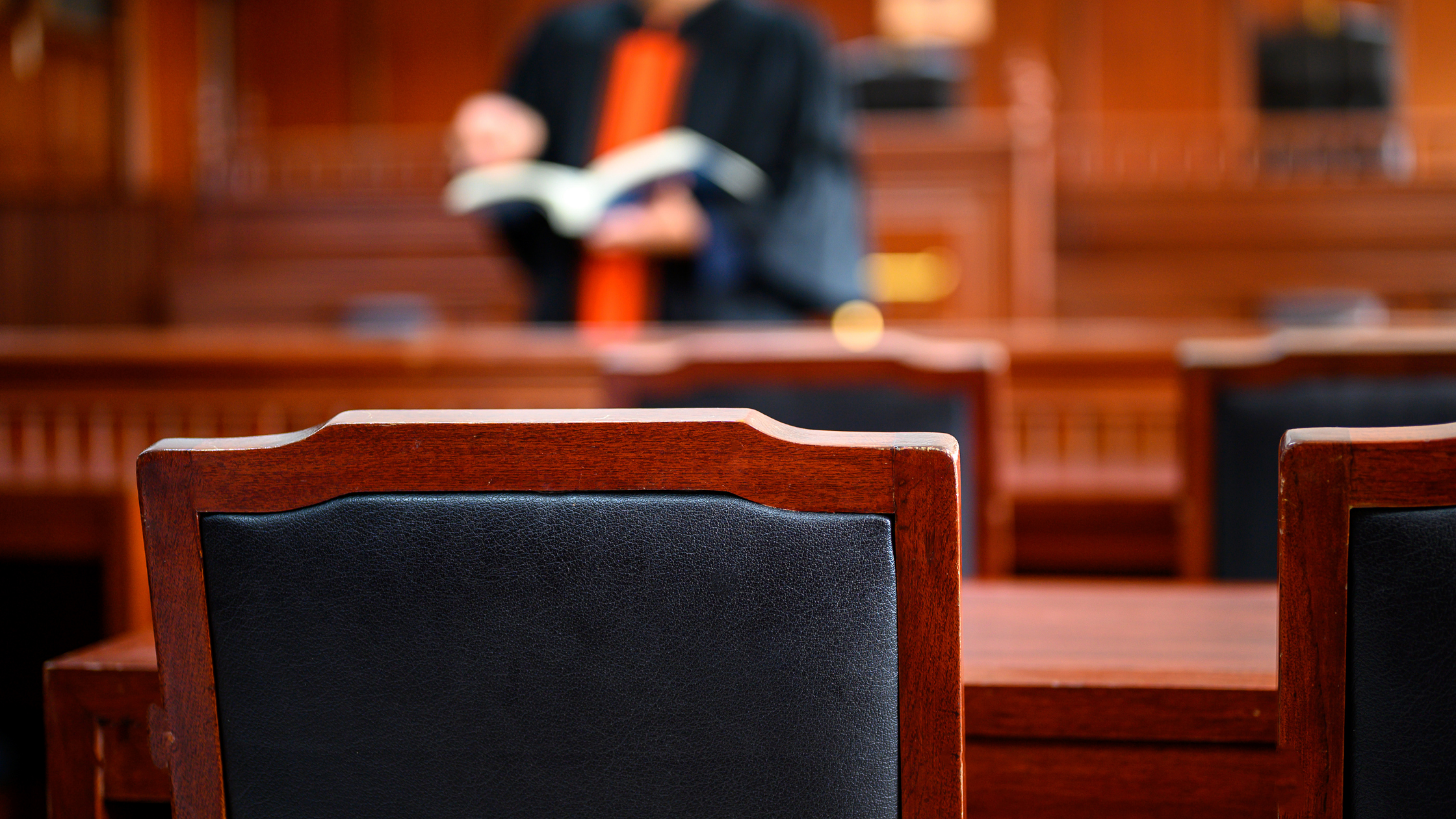 chair in a court room
