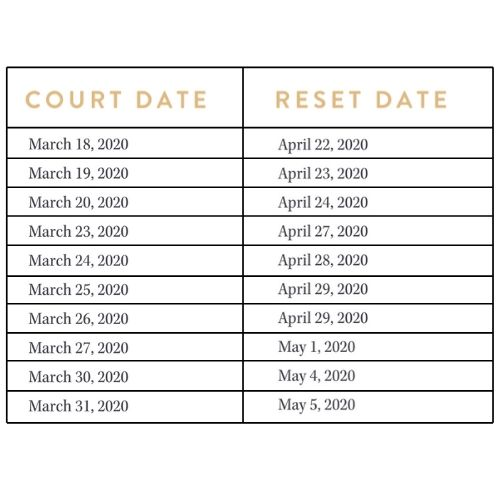 Shelby County Court Dates