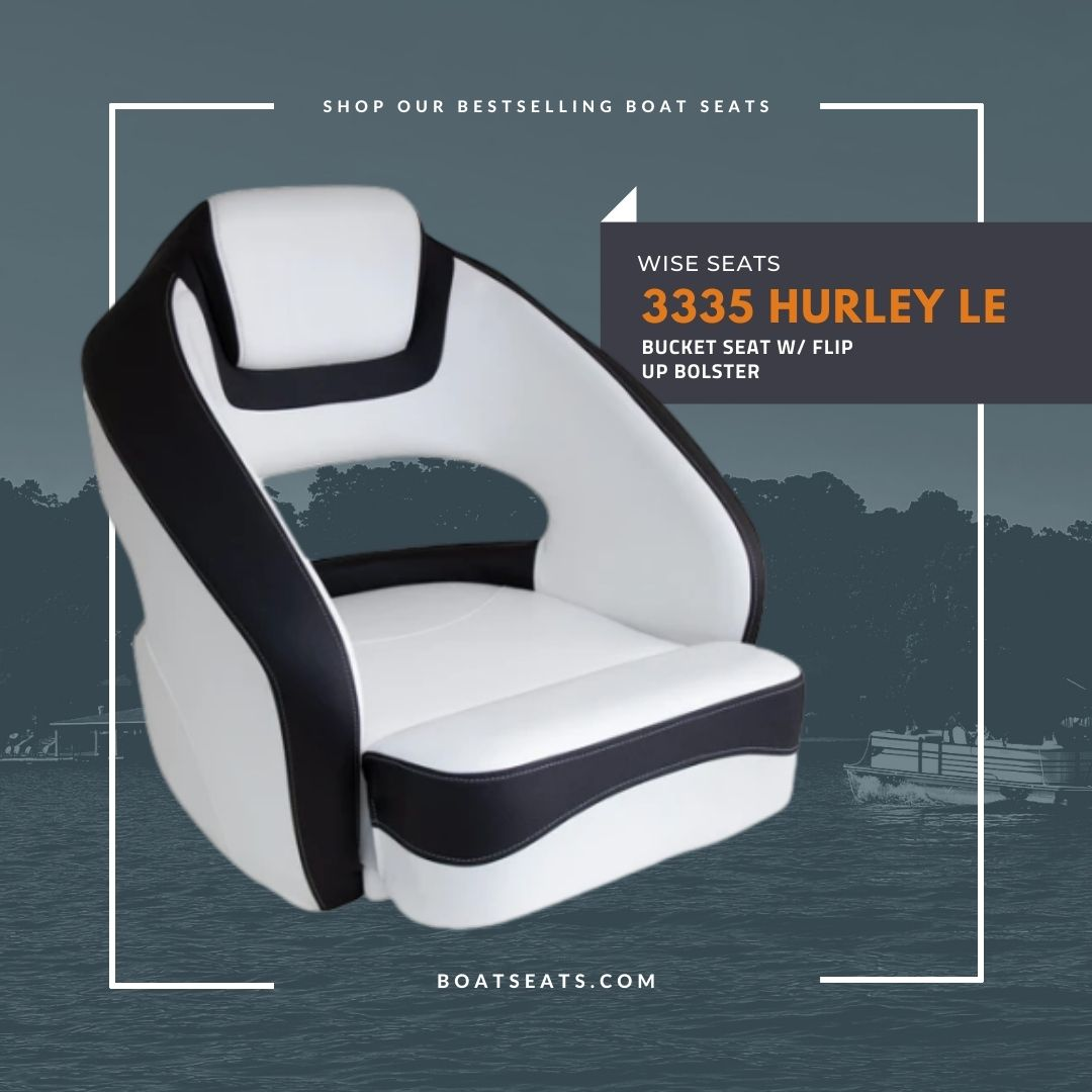 White and Black Boat Seat