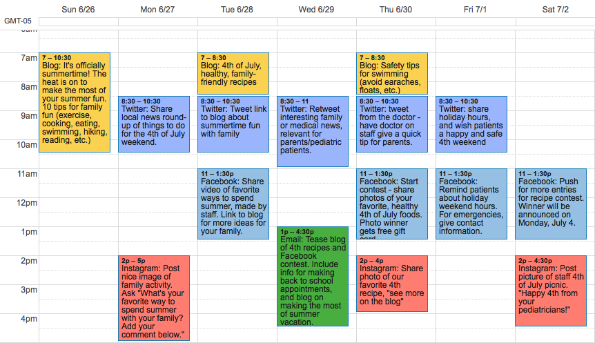 marketing calendar | memphis digital marketing | Speak Creative