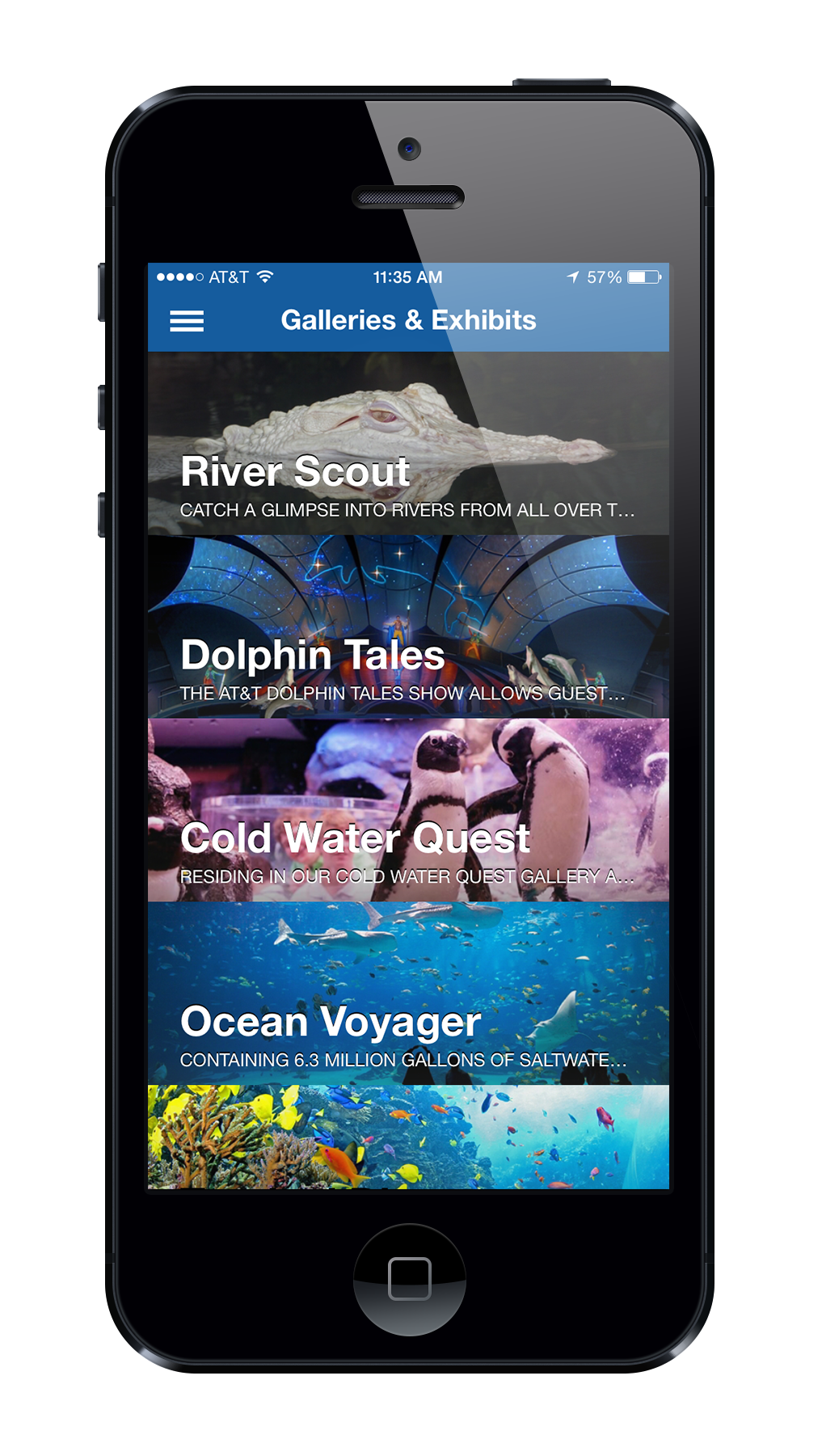 Georgia Aquarium | Georgia Aquarium App | Speak Creative | App Development | App Developer | Capacity