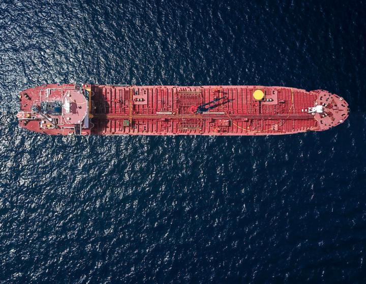 Aerial Large ship