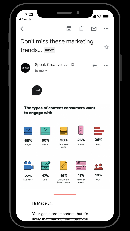 email marketing campaign | memphis digital marketing | Speak Creative