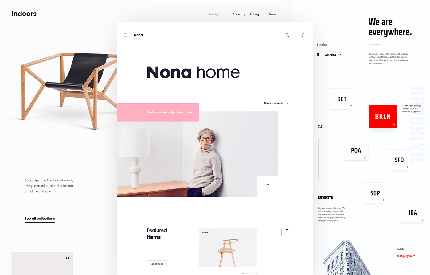 modular blank space in web design