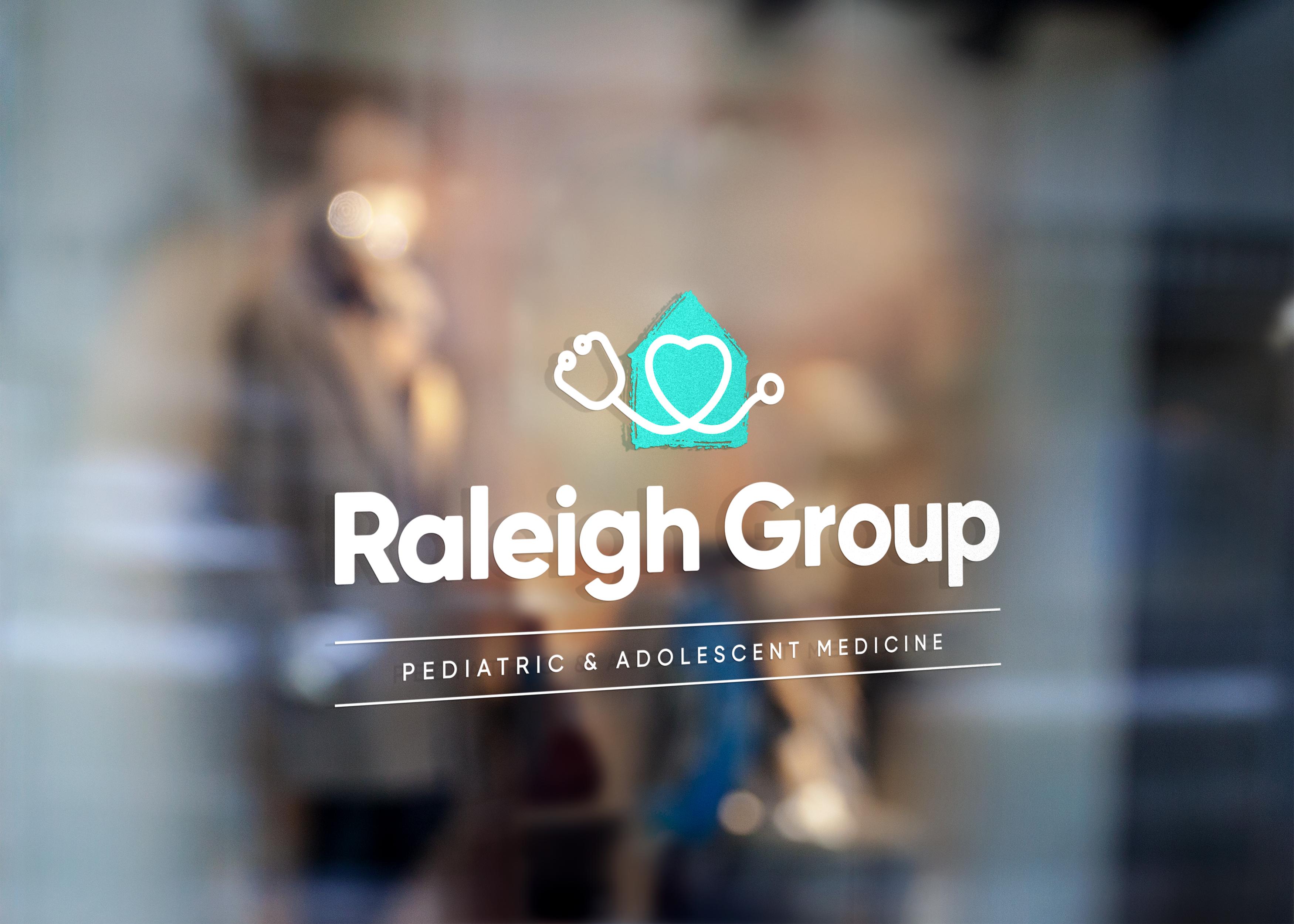 Raleigh group logo on window