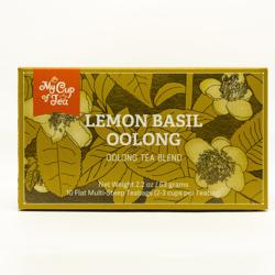 lemon basil oolong tea box