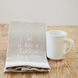tea towel and mug
