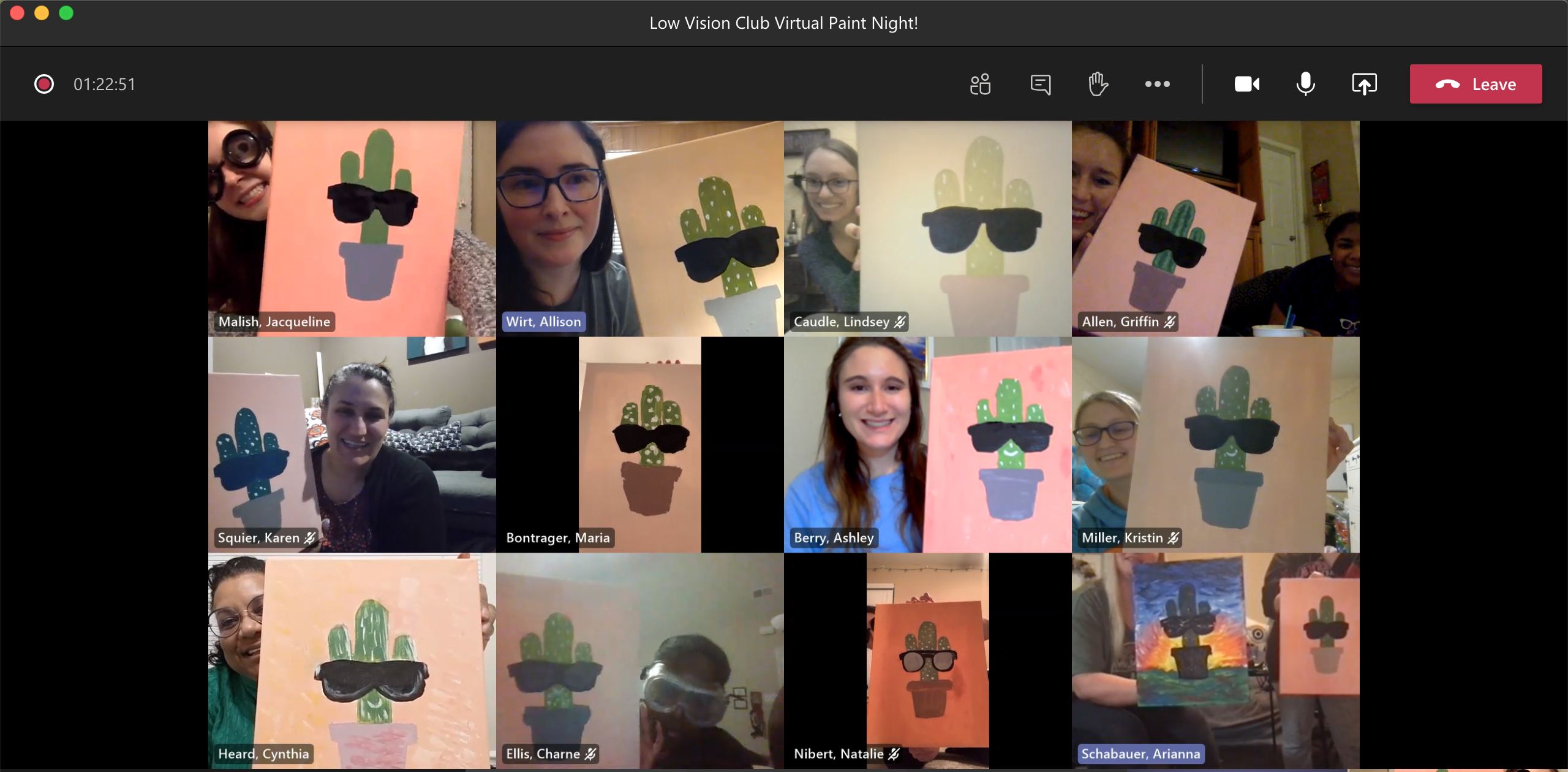 Students on a Zoom Meeting