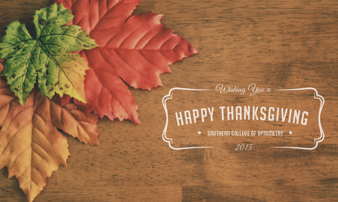 SCO will be closed for Thanksgiving November 26-29.