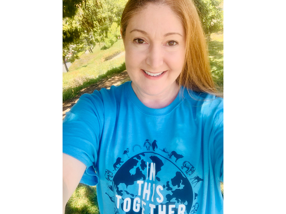 Woman wearing Event Network's In This Together t-shirt