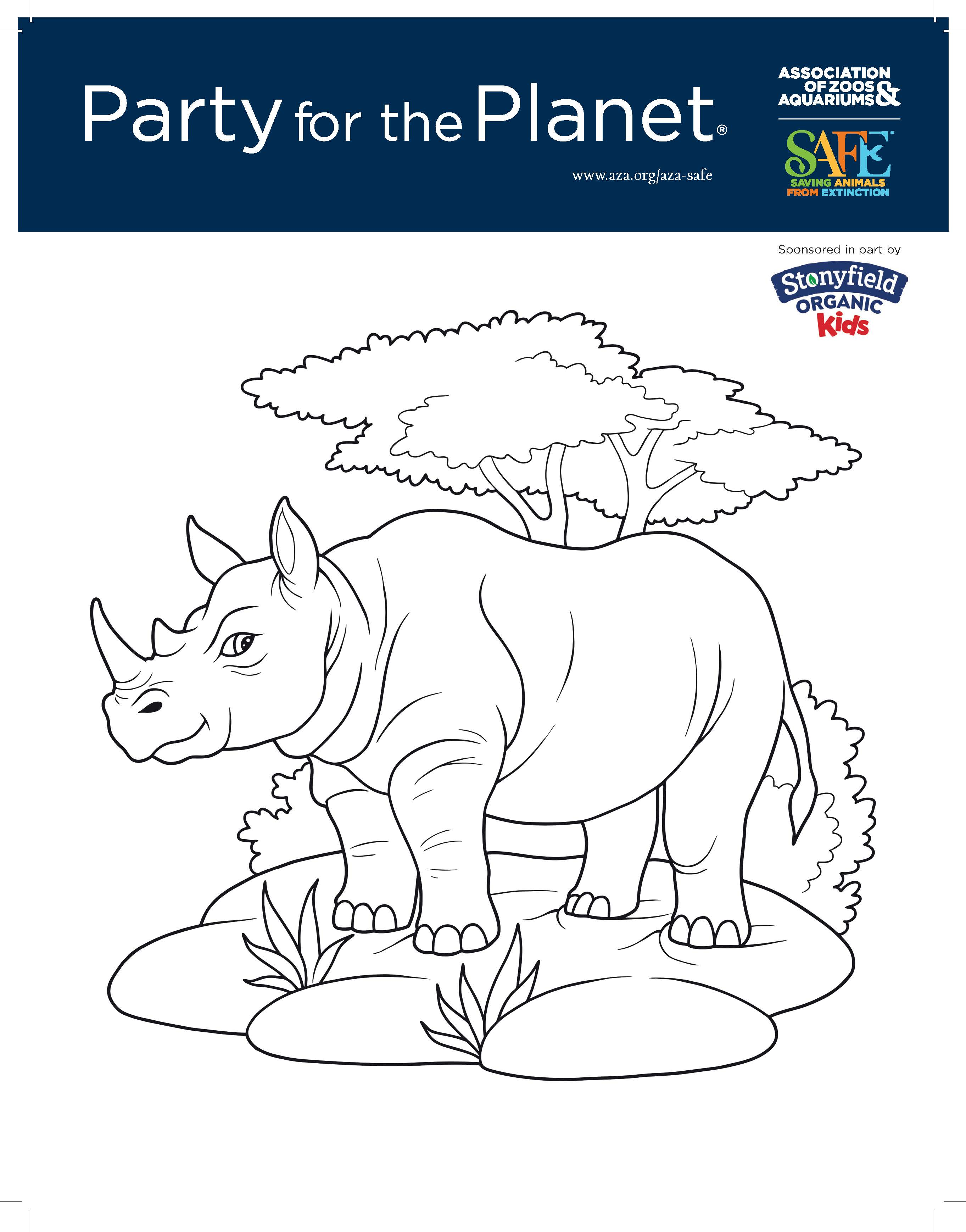 Image of and link to Party for the Planet coloring book