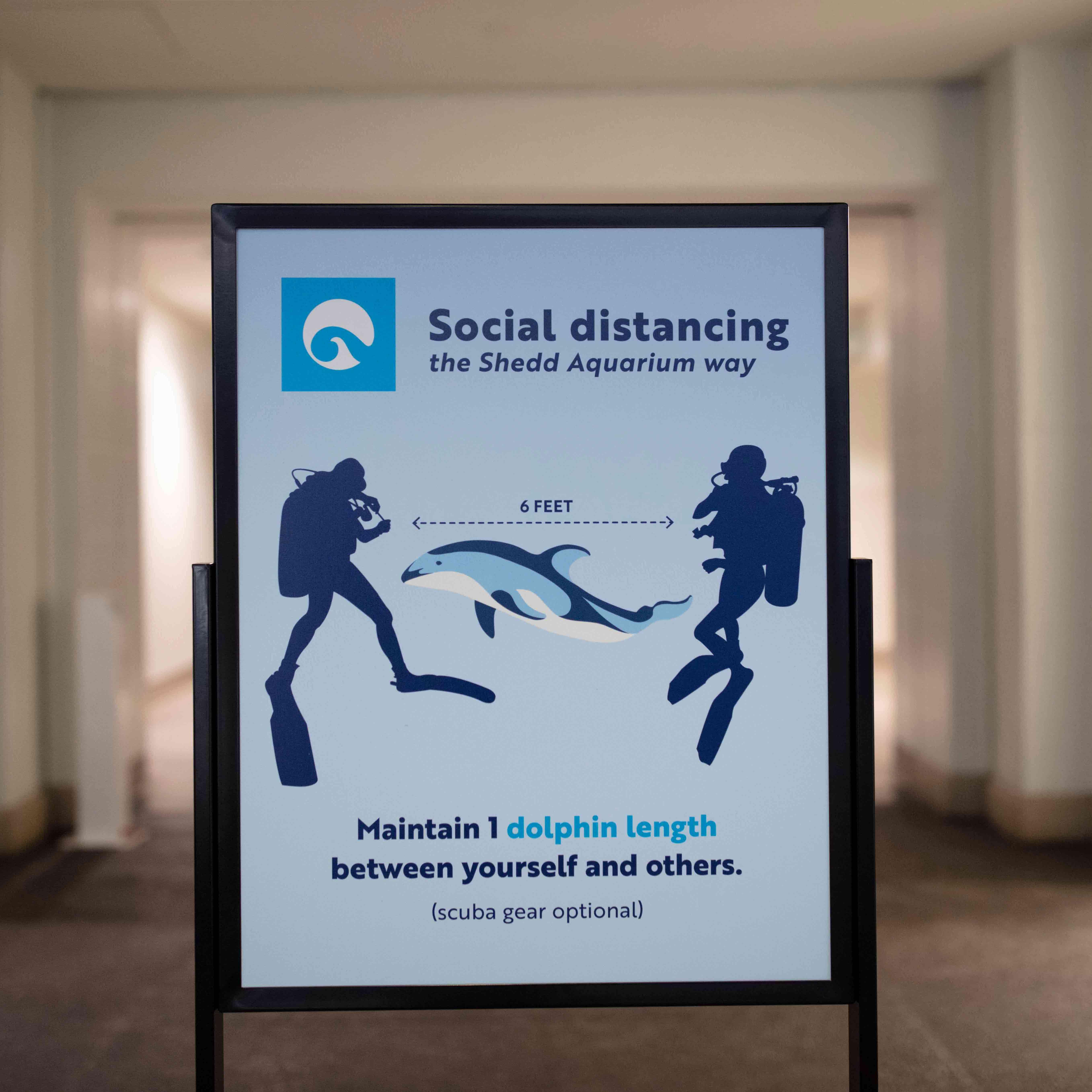 Shedd Aquarium's distance signage