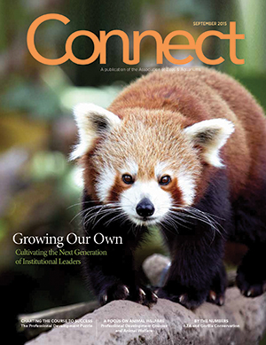 A photograph of an image of AZA's Connect magazine