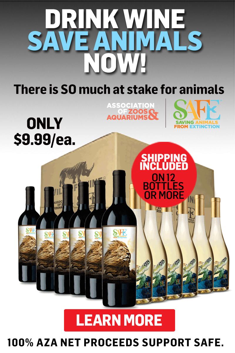 Drink Wine, Save Animals. Now!