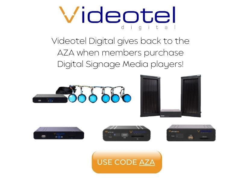 Videotel media player purchases give back to the AZA!