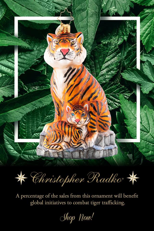 Christopher Radko tiger ornament