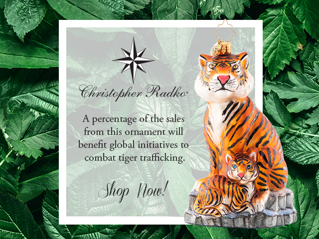 Support WTA buy purchasing a tiger ornament