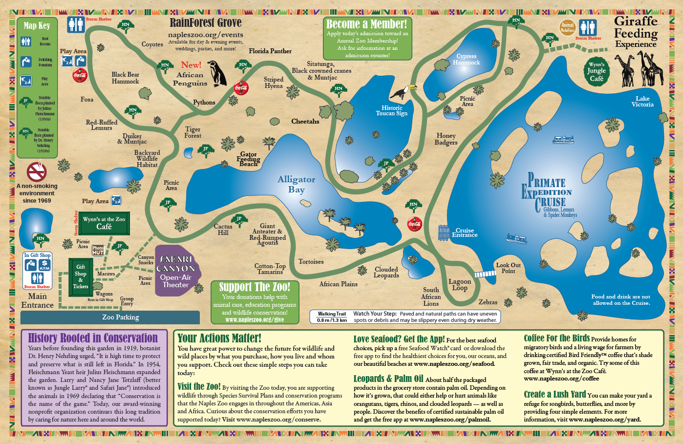 today at the zoo. zoo map  naples zoo at caribbean gardens