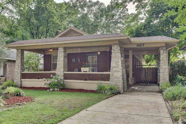 brick house with front porch