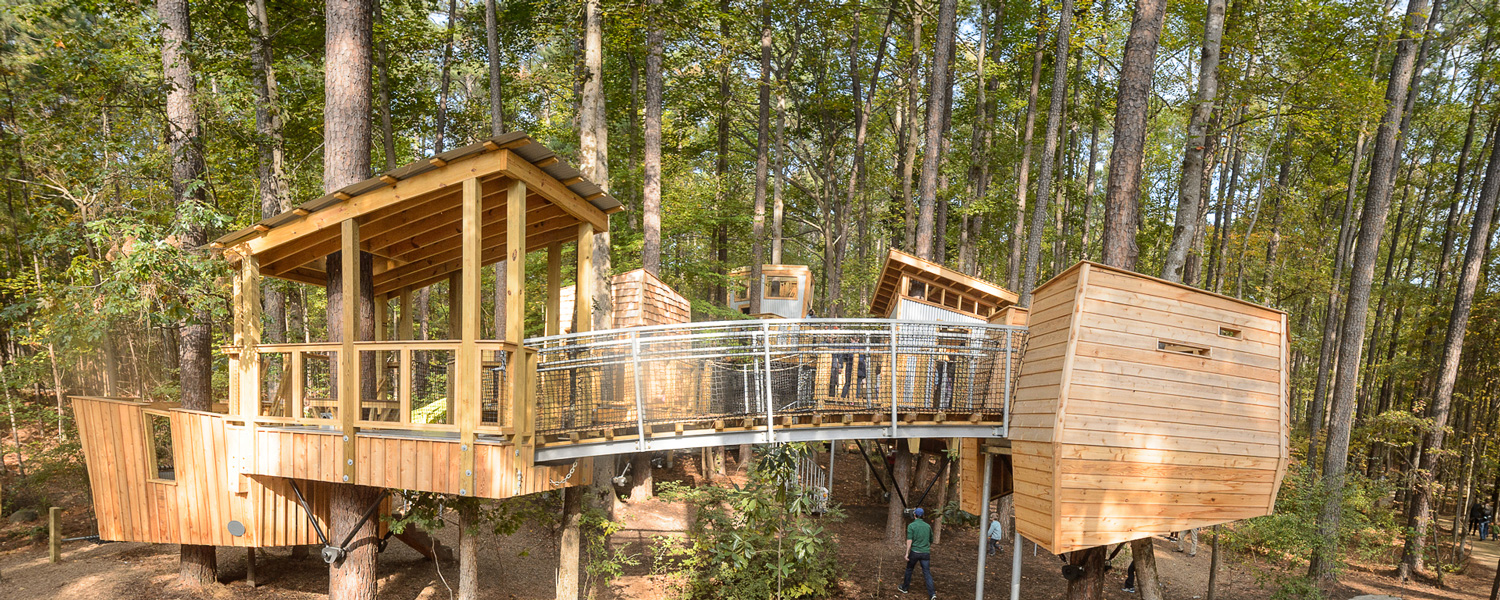 The treehouses at Hideaway Woods