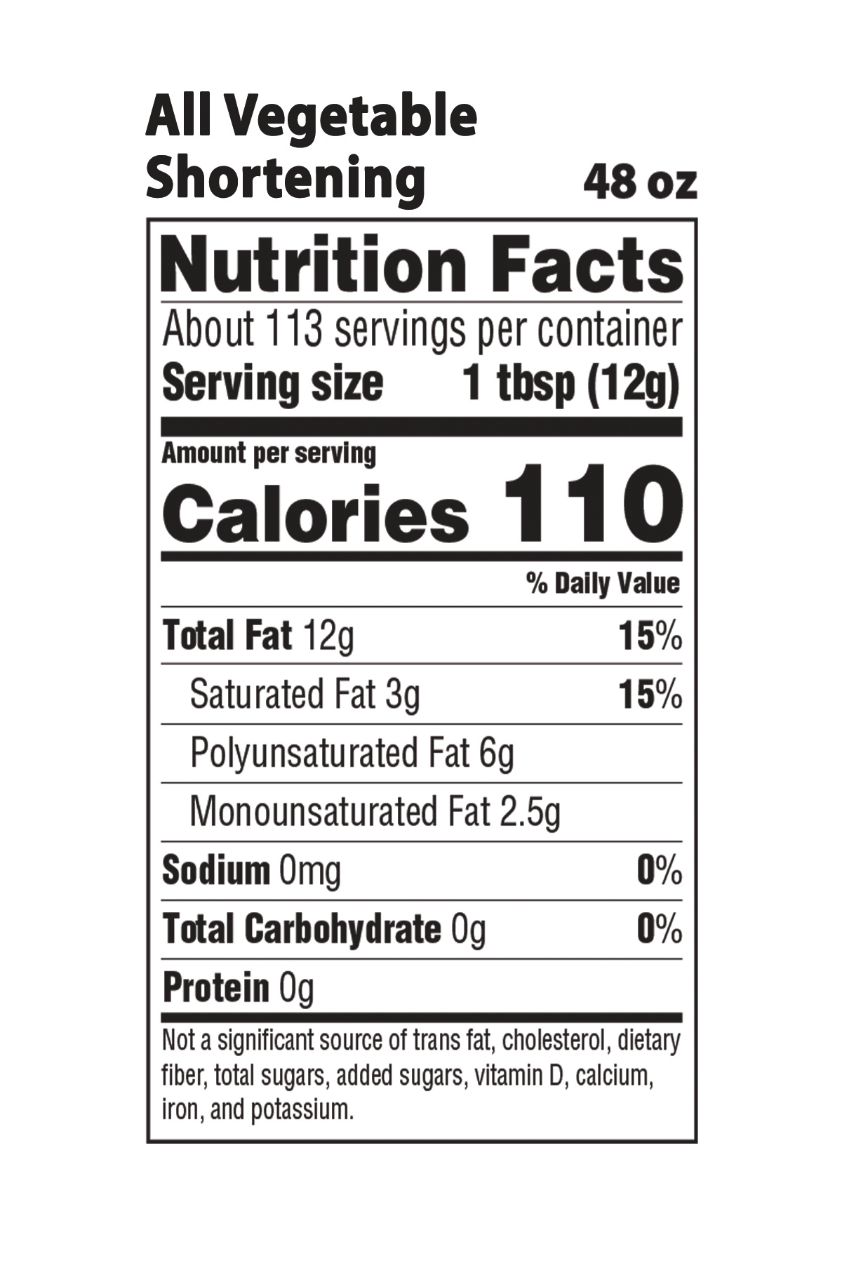 Vegetable Nutrition Facts