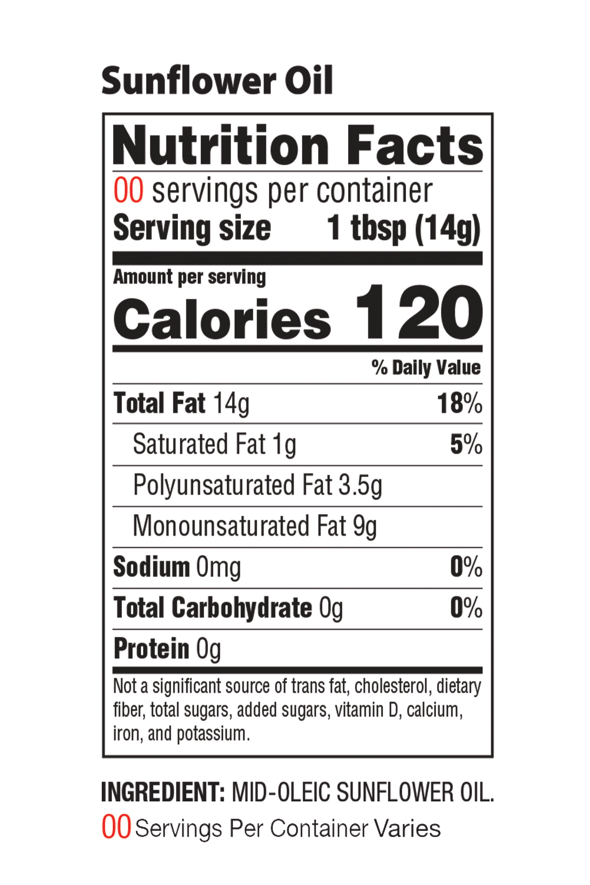 Sunflower Nutrition Facts