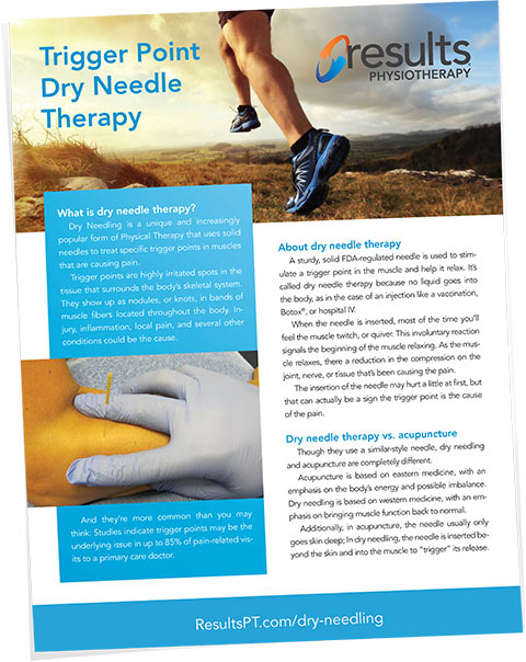 Dry Needle Therapy brochure cover image