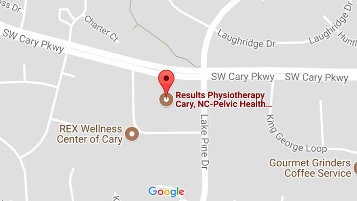Map - Results Physiotherapy Cary, North Carolina