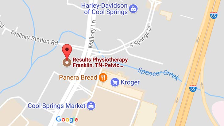 Map - Results Physiotherapy Cool Springs, Tennessee