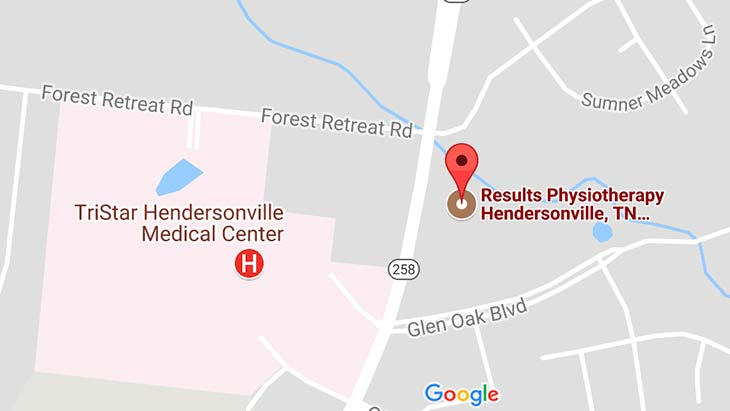 Map - Results Physiotherapy Hendersonville, Tennessee