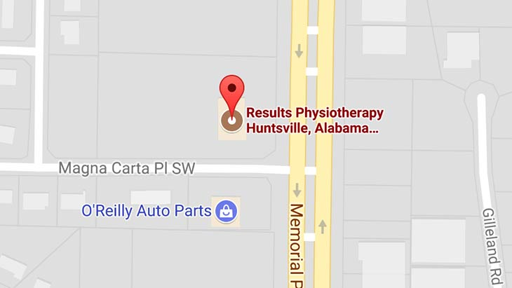 Map - Results Physiotherapy Huntsville, Alabama
