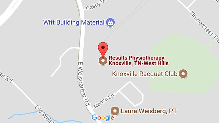 Map - Results Physiotherapy Knoxville Tennessee