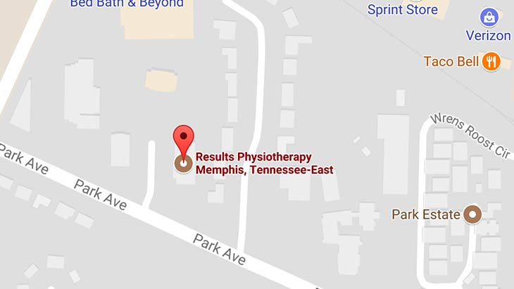 Map - Results Physiotherapy Memphis, Tennessee