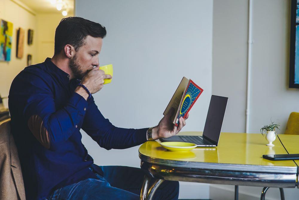 Man at a Laptop