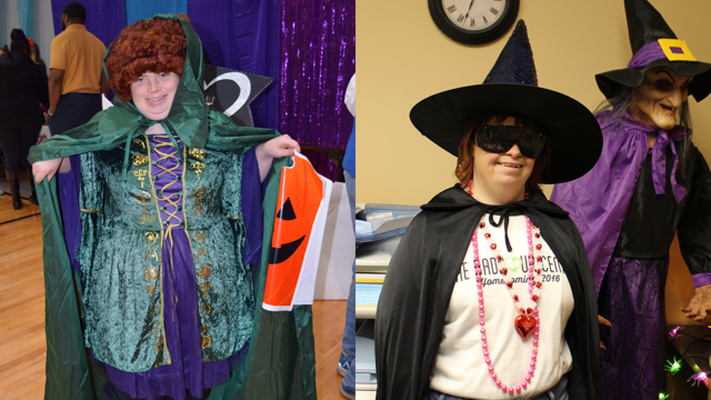 Adults with Special Needs in Halloween Costumes