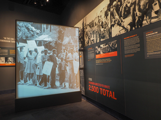 Exhibit at the Civil Rights Museum
