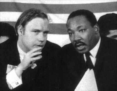 <strong>William F. Pepper</strong> with <strong>Martin Luther King</strong> at the September 1967 Labor Day National Conference for New Politics Convention in Chicago.