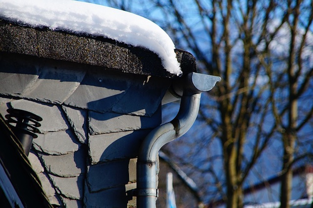 Gutters with Snow on Them
