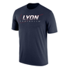 Football Nike Dri-Fit Cotton Short Sleeve tee in Navy