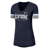 Nike Womens Navy Fan V Short Sleeve Top